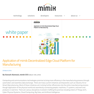 mimik white papers