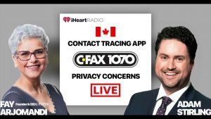 Canada contact tracing App data privacy and Security concerns