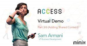 mimik Access (Adding Shared Content) Part 3/6